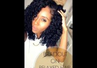 Elegant perfect braidout on relaxed hair hair twists black Braid Out Styles Relaxed Hair Ideas