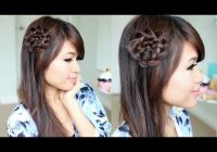 Stylish rosette flower braid hairstyle for medium long hair tutorial Rosette Flower Braid Hairstyle For Medium Long Hair Tutorial Choices