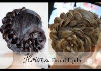 Trend how to 5 min rosette flower braid updo easy summer Rosette Flower Braid Hairstyle For Medium Long Hair Tutorial Inspirations